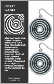 Op Art Target - black accents - giclee print