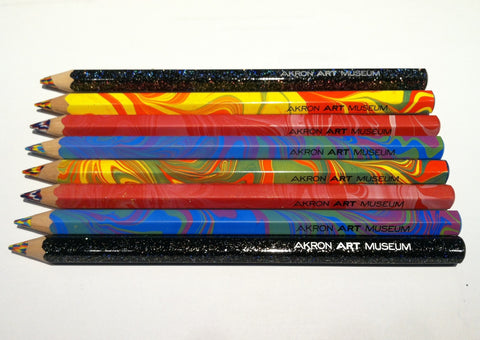 Akron Art Museum Logo Rainbow Pencils
