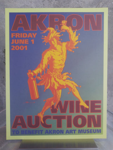 Framed Vintage Auction Poster 2001