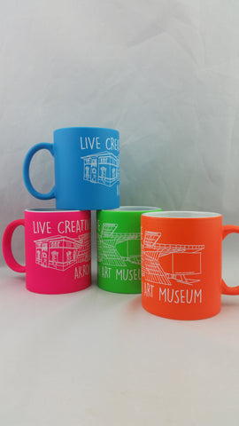 Akron Art Museum Illustrated Coffee Mug