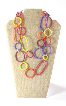 Spiral Ring Necklace - Long By Bridge For Africa