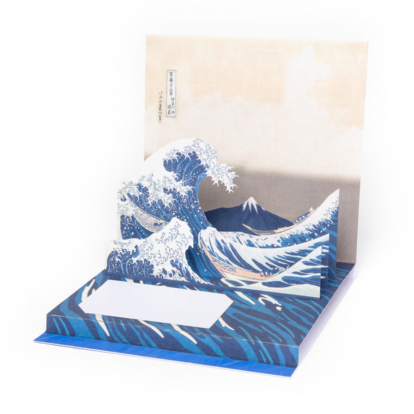 The Great Wave Pop - Up Note Card