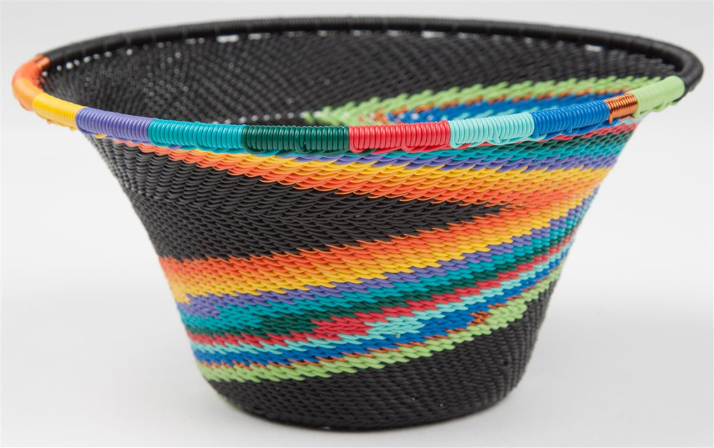 Telephone Wire Bowl - African Rainbow - Bridge For Africa