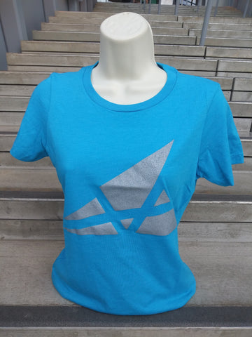 Akron Art Museum Logo T-Shirt - Womens, Turquoise