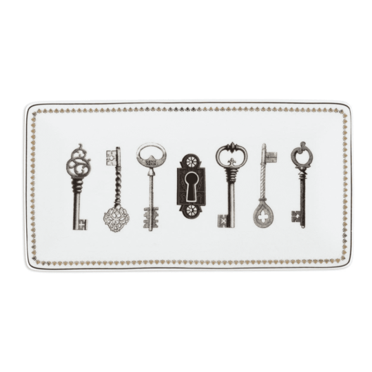 "Alice Scott ""Keys"" Porcelain Tray From Galison"