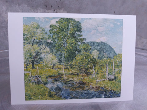 Note Card Featuring Bedford Hills by Childe Hassam