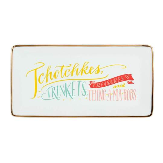 "High Five By Ladyfingers Letterpress ""Tchotchkes"" Porcelain Tray"