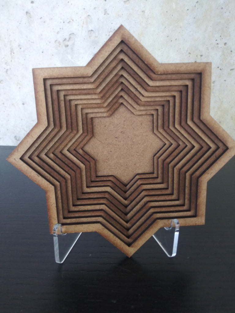 Small Fiberboard Bowl Star From SWORKS