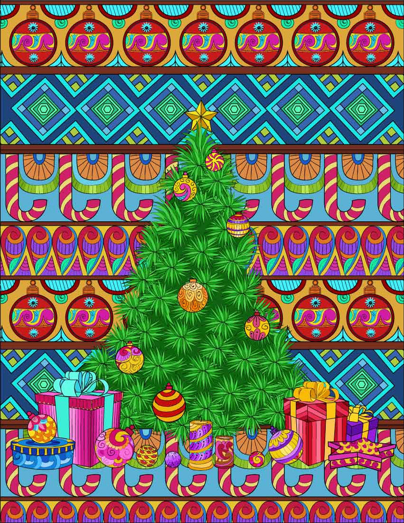Free Magical Christmas Adult Coloring Pages | Digital Download ...