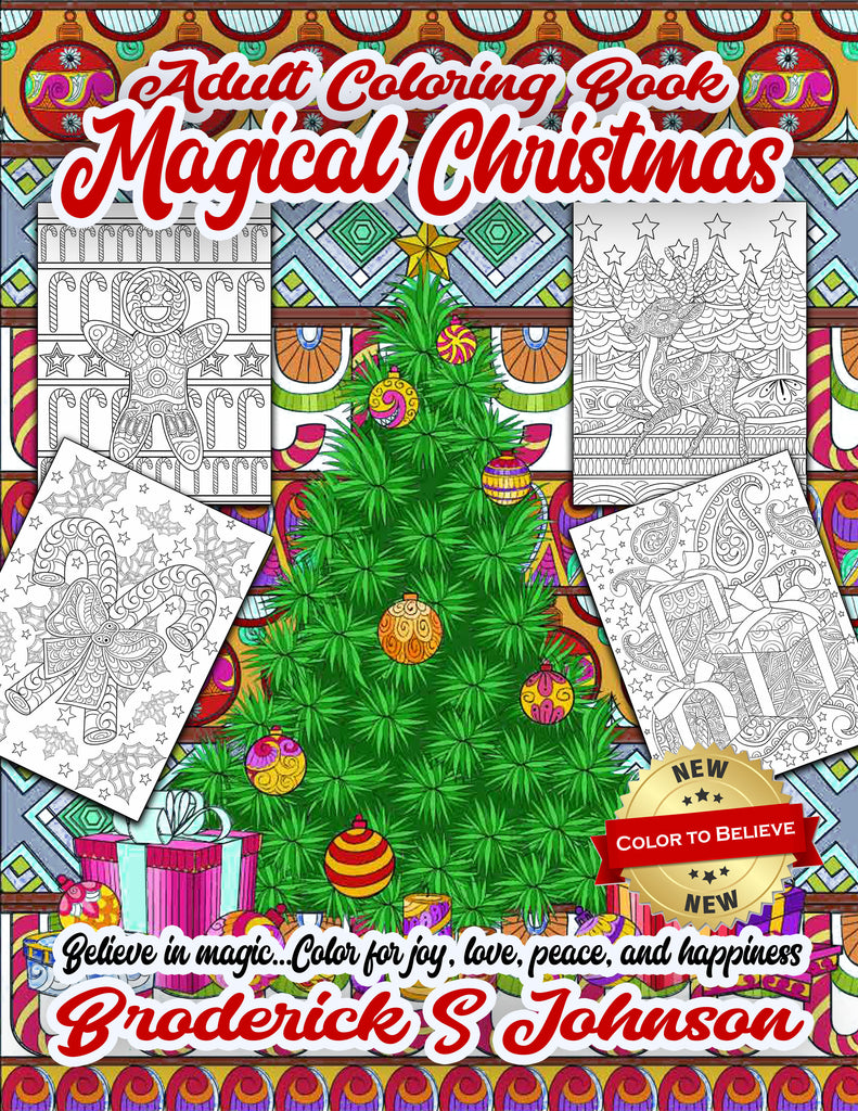 Magical Christmas Premium Adult Coloring Pages Full Book 37 Images