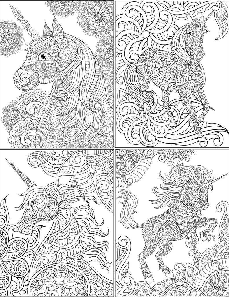 Free Unicorn Coloring Pages | Digital Download | Abundant Life Colors