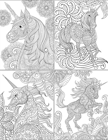 Free Unicorn Coloring Pages Digital Download Abundant Life Colors