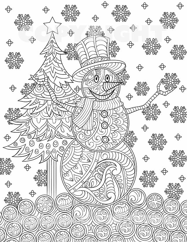 adult coloring pages download | Free Magical Christmas Adult Coloring Pages | Digital ...
