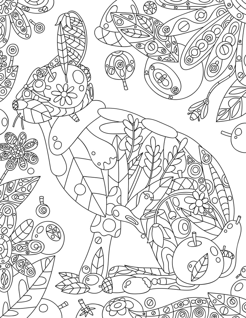 Peculiar Animal Coloring Page