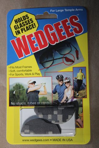 Wedgee Large - Camouflage,   For large shooting glasses, safety glasses large temple arms