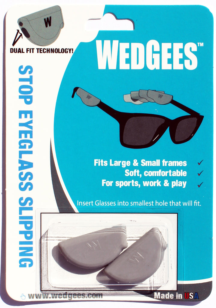 Dual Fit Gray Molded Wedgees.   Fits Small and Large frames