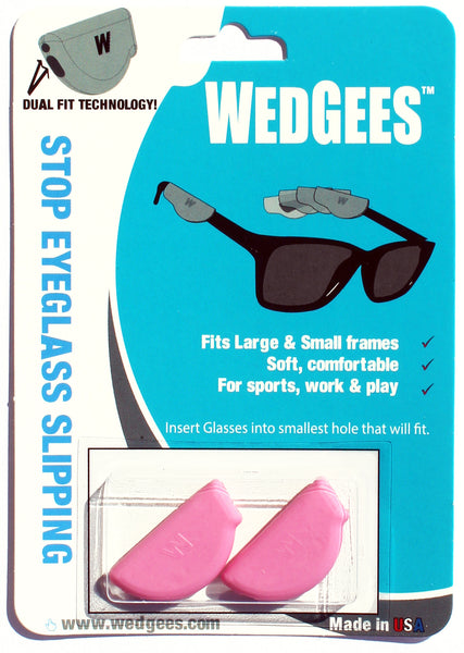 Dual Fit Pink Molded Wedgees.   Fits Small and Large frames