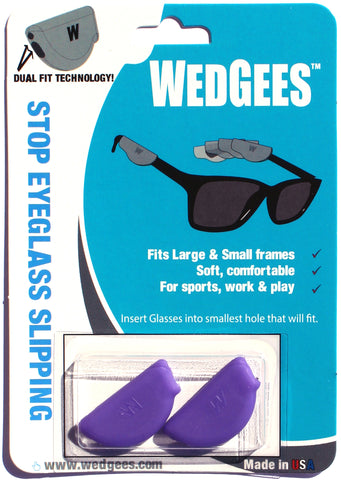 Dual Fit Purple Molded Wedgees.   Fits Small and Large frames