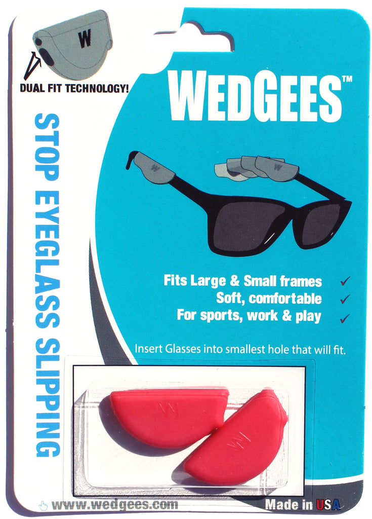 Dual Fit Red Molded Wedgees.   Fits Small and Large frames