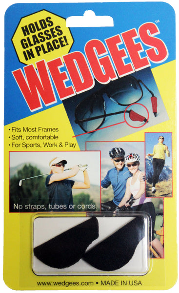 Wedgees - Black - Fits Most Standard Size Frames & Temple Arms
