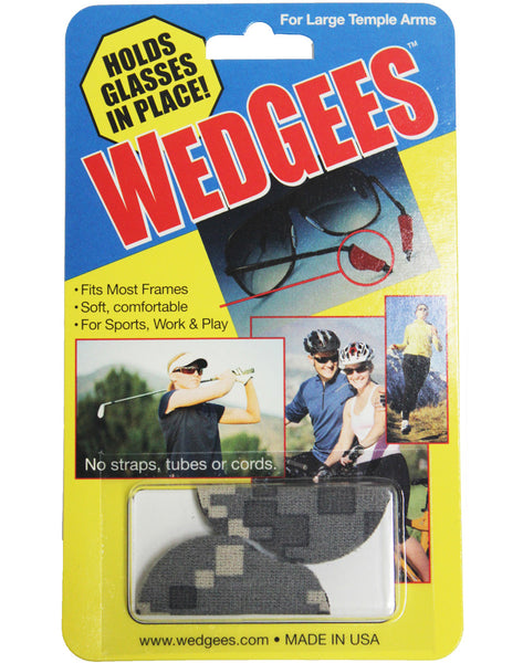 Wedgees Large - Camouflage - Fits Larger Glasses Temple Arms