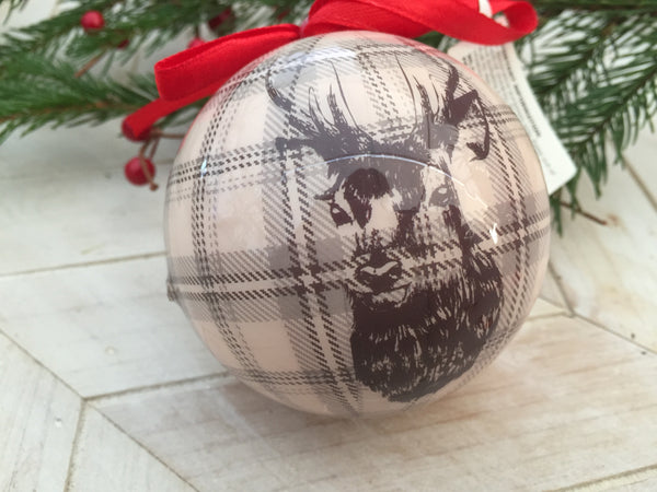 Stag Print Light Weight Bauble