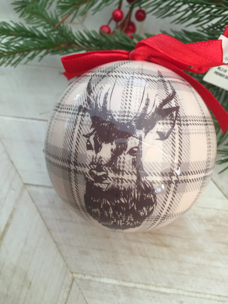 Stag Print Bauble