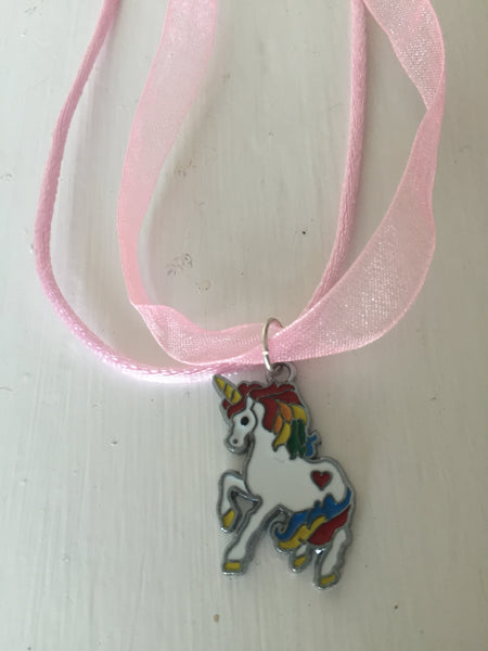 Rainbow Unicorn Gift Necklace
