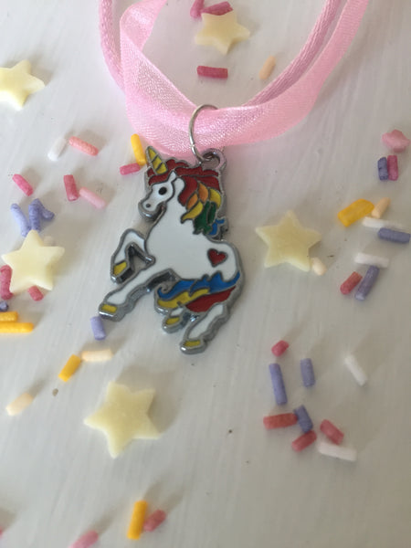 Rainbow Unicorn Charm Necklace