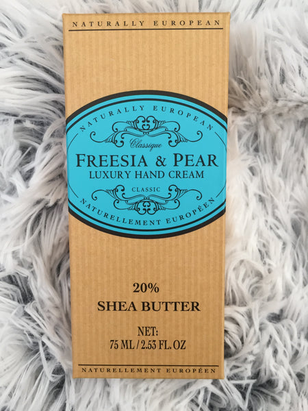 Freesia & Pear Naturally European Hand Cream