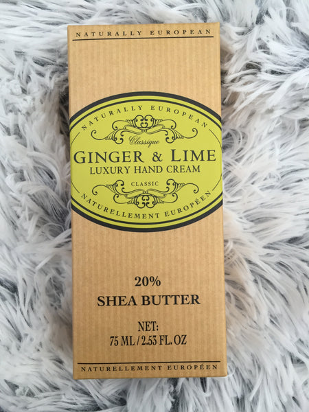 Ginger & lime hand cream