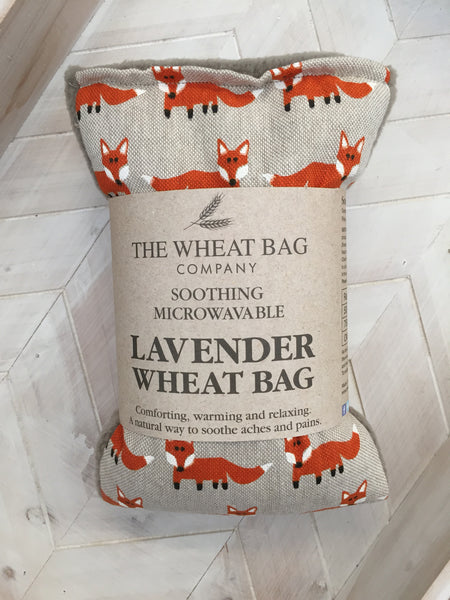 Fox Print Lavender Wheat Bag