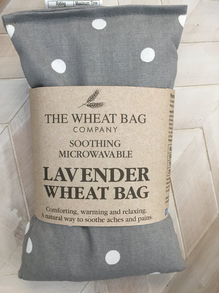 Grey Polka Dot Lavender Wheat Bag