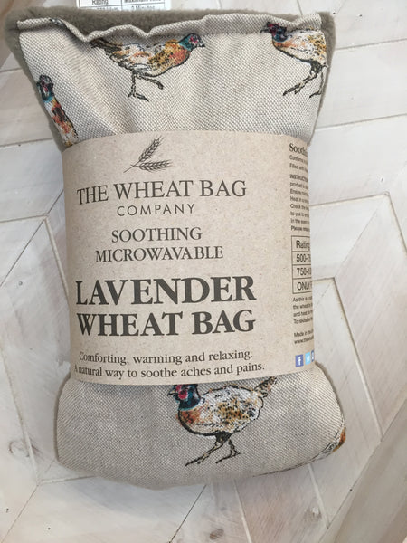 Pheasant Lavender Wheat bag