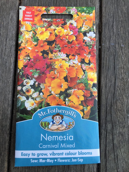 Nemesia Carnival Mixed Seeds by Mr Fothergill's