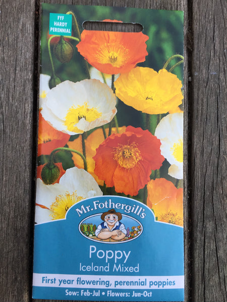 Poppy Iceland Mixed Seeds by Mr Fothergill's