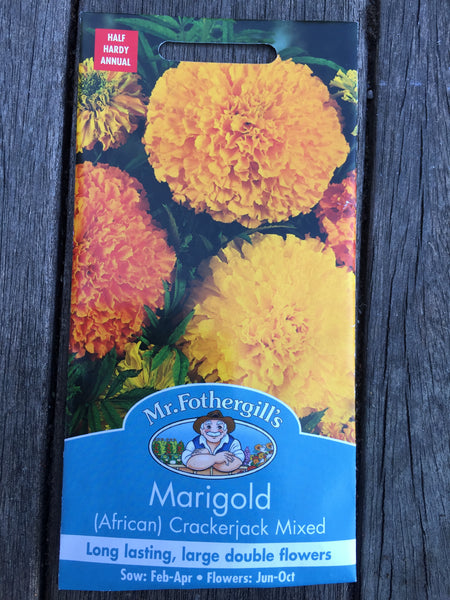 Marigold (African) Crackerjack Mixed Seeds by Mr Fothergill's