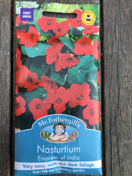 Nasturtium Empress of India by Mr Fothergill's