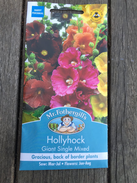 Hollyhock Giant Single Mixed Seeds by Mr Fothergill's