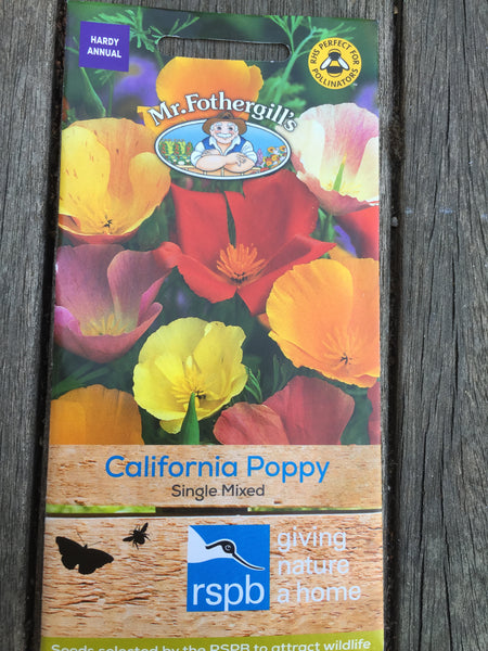 California Poppy Single Mixed Seeds RSPB by Mr Fothergill's