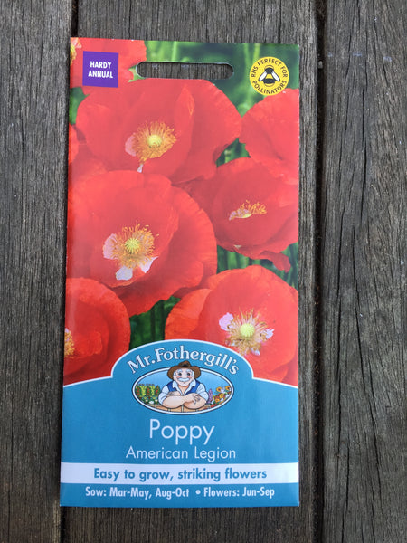 Poppy American Legion Seeds by Mr Fothergill's