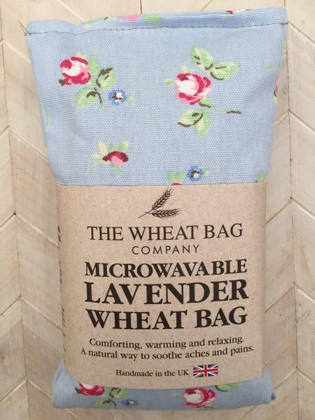 rose blue lavender wheat bag