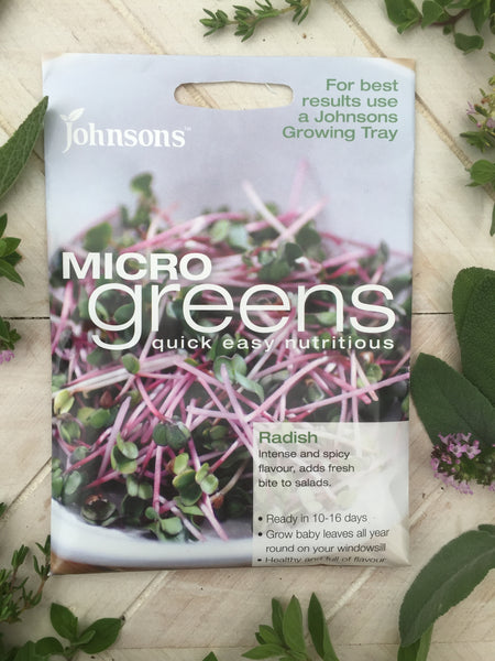 Micro Greens Radish Seeds, Sprouting seeds Johnsons