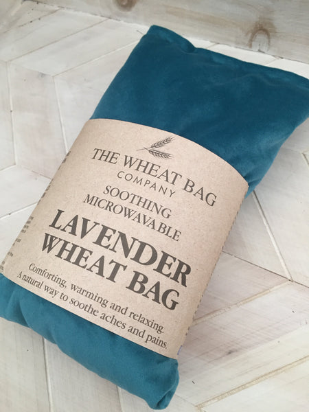 Teal Velvet Lavender Wheat Bag