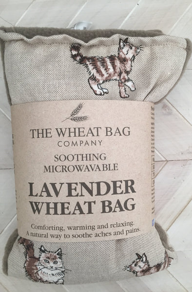 Curious cats lavender wheat bag