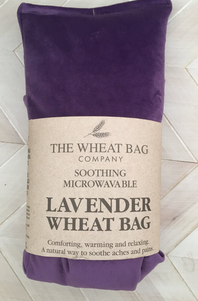 Purple velvet lavender wheat bag