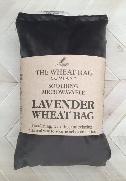 Charcoal Velvet Lavender Wheat Bag