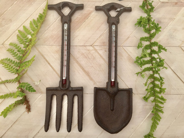 Cast Iron Spade & Fork Thermometer