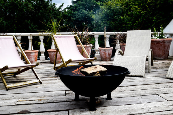 Outdoor Heritage Black Iron Firebowl on Legs