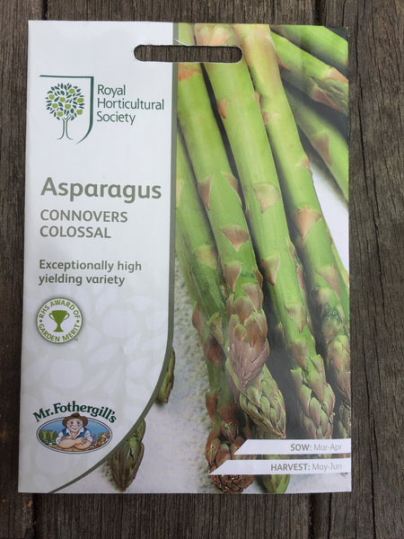 RHS Asparagus Connovers Colossal seeds